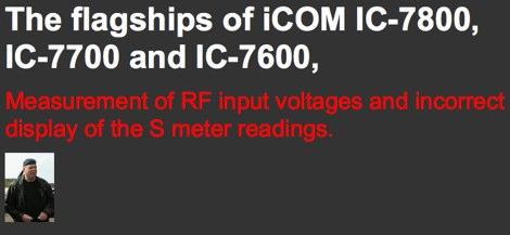 IC-7800, IC-7700 and IC-7600 Wrong S Meter