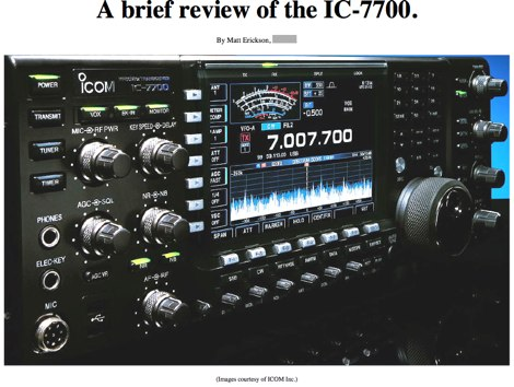 ICOM IC-7700 Review