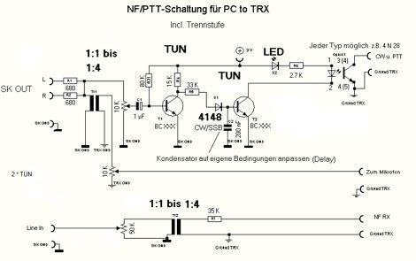 Digital mode PTT interface circuit