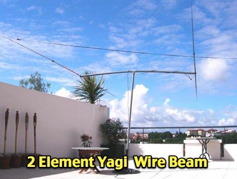 2 element yagi wire beam