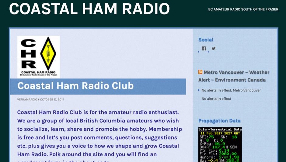 Coastal Ham Radio