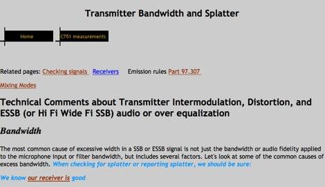 DXZone Transmitter Bandwidth and Splatter