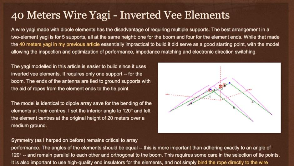 40 Meters Wire Yagi Antenna