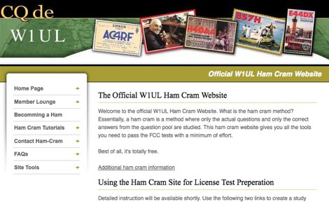 DXZone Official W1UL Ham Cram Website