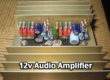 12V powered Audio Amplifier