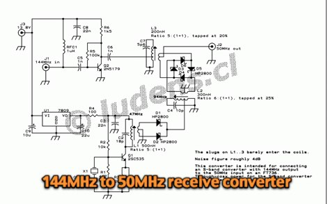 144MHz to 50MHz receive converter
