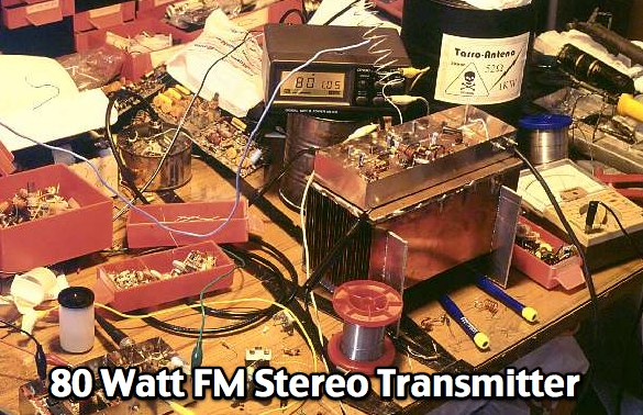 80 Watt FM stereo broadcast transmitter