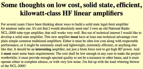 Homebrewing HF Amplifiers