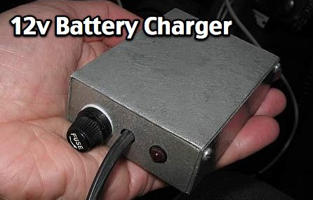12V input, 12V battery charger