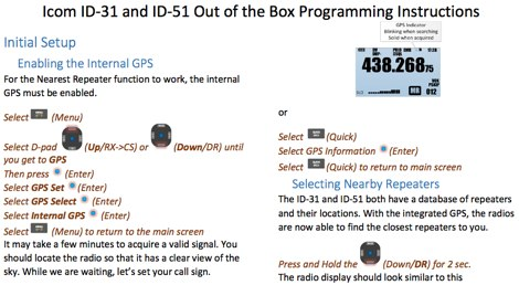 DXZone Programming Icom ID-51A