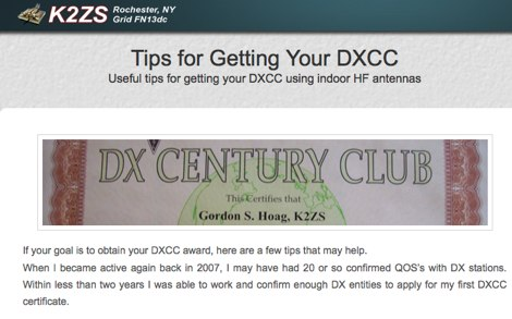 Tips for Getting Your DXCC