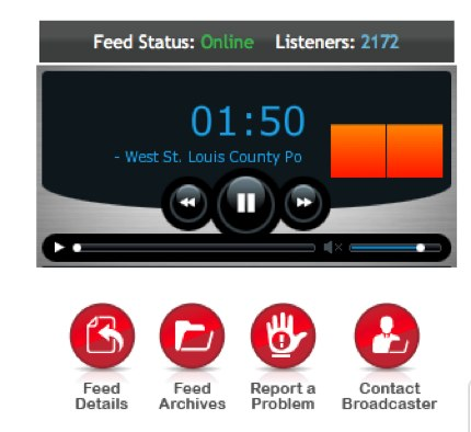 Missoury St. Louis County Live Scanner