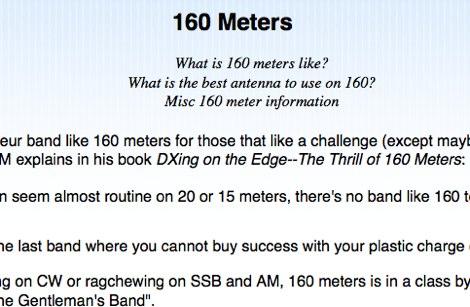 160 meter antennas