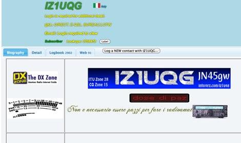 DXZone The IZ1UQG personal page