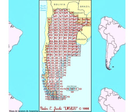 DXZone Argentina Locator Map