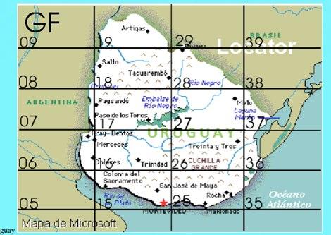 Uruguay Locator map