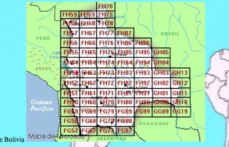 DXZone Bolivia Locator map