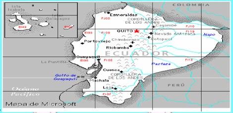 DXZone Ecuador Locator map
