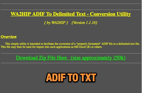 ADIF To Delimited Text