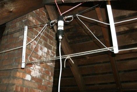 HF Fan Dipole Attic Antenna