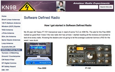 Software Defined Radio at K9NB