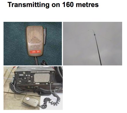 Transmitting on 160 metres