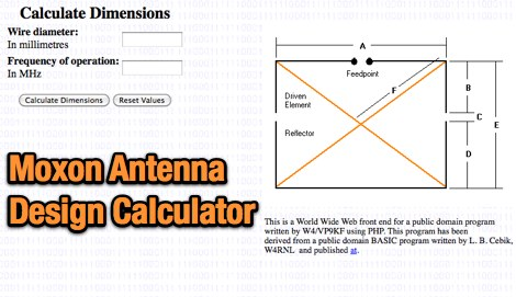 Moxon Antenna Calculator