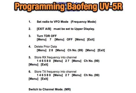 DXZone Programming UV-5R