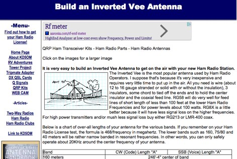 Build an Inverted Vee Antenna