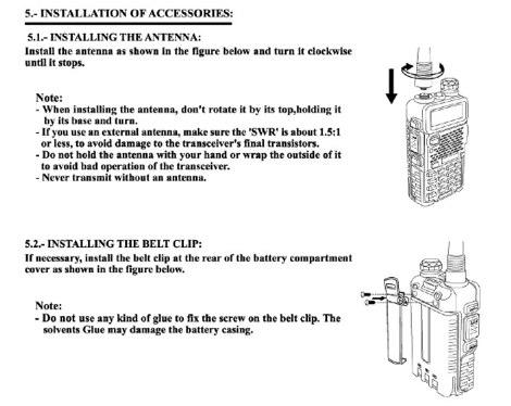 DXZone UV-5R User Manuals