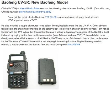 DXZone Baofeng UV-5R review