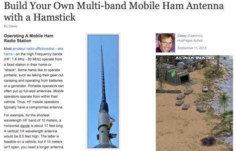 DXZone Hamstick as multiband mobile antenna