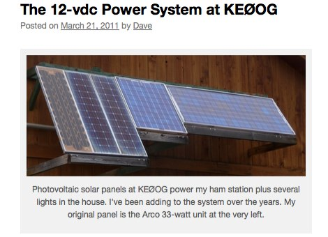 The 12-vdc Power System at KE0OG