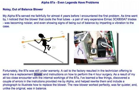 Alpha 87a - Even Legends Have Problems