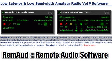 RemAud Remote Audio Software