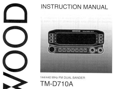 DXZone TM-D710 Manual