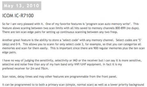 DXZone Icom IC R7100 review