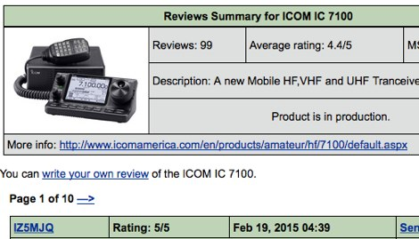 DXZone ICOM IC 7100 eHam Reviews