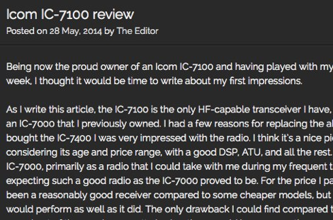 IC-7100 Review