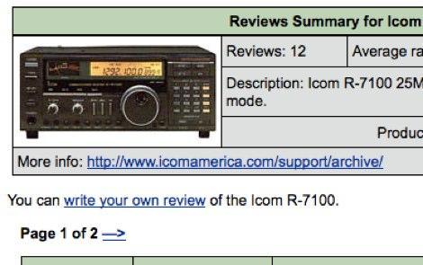 Icom IC R7100 reviews