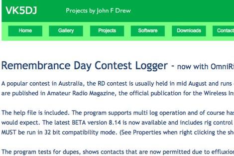 DXZone Remembrance Day Contest Logger