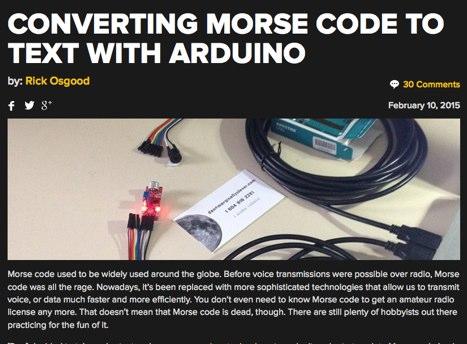 DXZone Decode Morse Code with Arduino