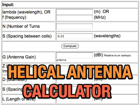 Helical Antenna Design Calculator