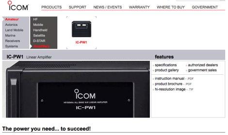 Icom PW-1 Linear Amplifier