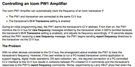 Controlling the PW-1 Amplifier