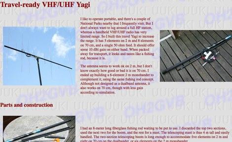 Travel-ready VHF/UHF Yagi