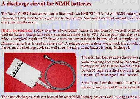 DXZone A discharge circuit for NiMH batteries