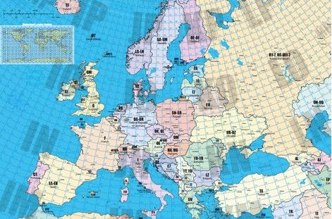 DXZone Locator map of Europe