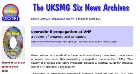 Sporadic-E propagation at VHF