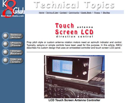 LCD Touch Screen Antenna Controller
